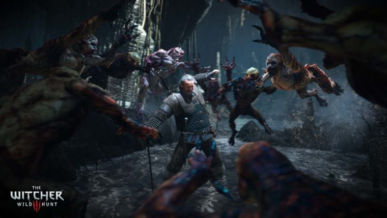The_Witcher_3_Wild_Hunt_Witcher_Vesemir_fighting_monsters