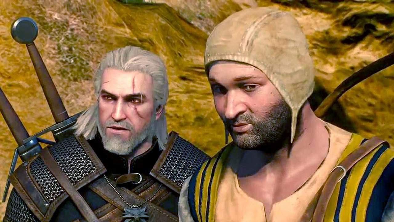 Witcher 3 Prologue Geralt and Merchant