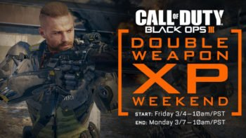 Black Ops 3 Double Weapons XP Hits Again This Weekend