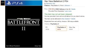 Star Wars Battlefront 2 Already Listed By Amazon UK