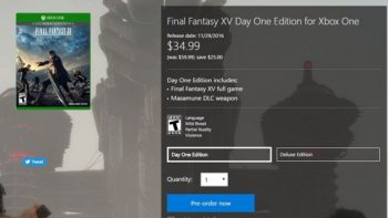 (Update) Microsoft Store Selling Final Fantasy 15 On Xbox One For $35