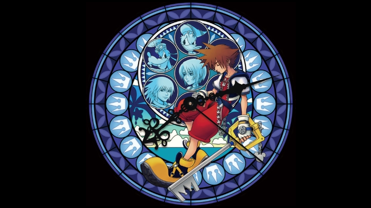 Kingdom Hearts Stained Glass Clock Memorial