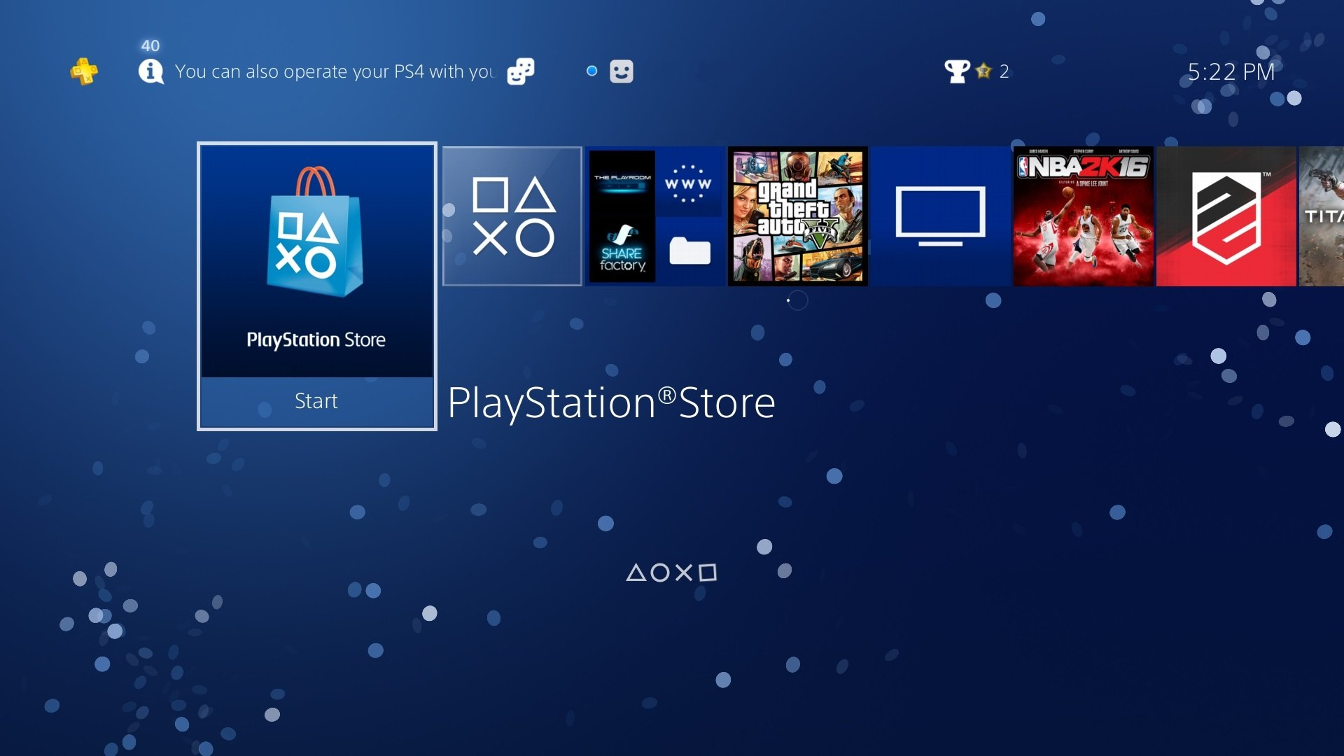 PlayStation 4 UI update