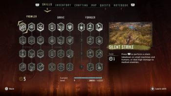 Horizon: Zero Dawn Guide: Skill Upgrades