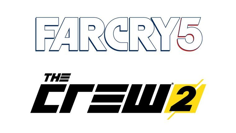 Far Cry 5 and The Crew 2 logos