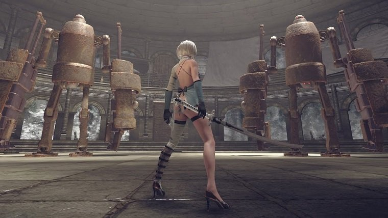 NieR Automata 2B revealing outfit