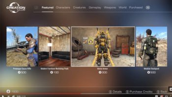 Bethesda Introducing Paid Mods With Creation Club For Fallout 4 and Skyrim