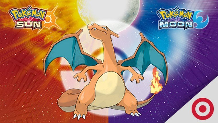 Get a Charizard in Pokemon Sun and Moon by visiting Target