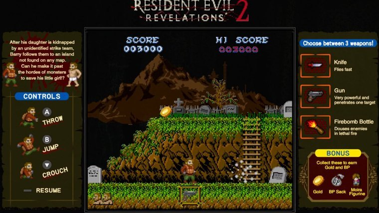 Resident Evil Revelations 1 & 2 for Switch will include retro style minigames