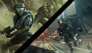 Crysis 2 v. Halo Reach Gameplay Comparison
