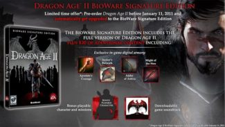 Pre-order Dragon Age II Get Upgrade to Signature Edition