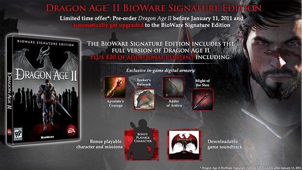 Pre-order Dragon Age II Get Upgrade to Signature Edition