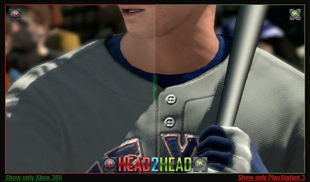 MLB 2k11: Xbox 360 vs PS3