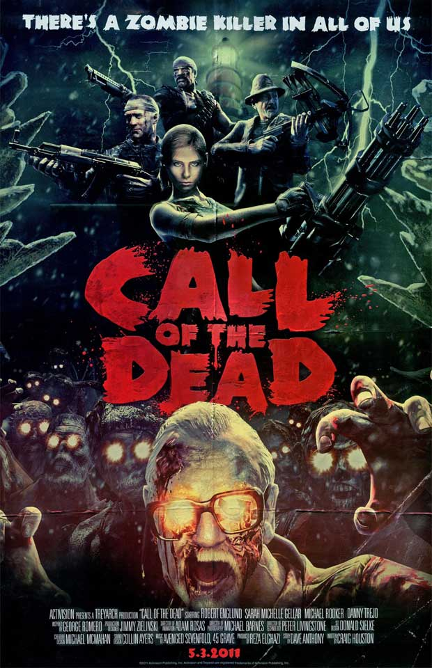 "Black Ops ""Call of the Dead"" Official Movie Poster News Xbox  Black Ops"