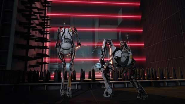 portal 2 robots. portal 2 robots wallpaper.