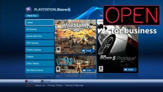 The PlayStation Store is Now Open For Business