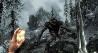 The massive world of Skyrim to fit on one disc for Xbox 360
