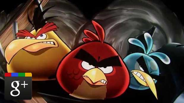 Google + Games Launches with Angry Birds News  Angry Birds