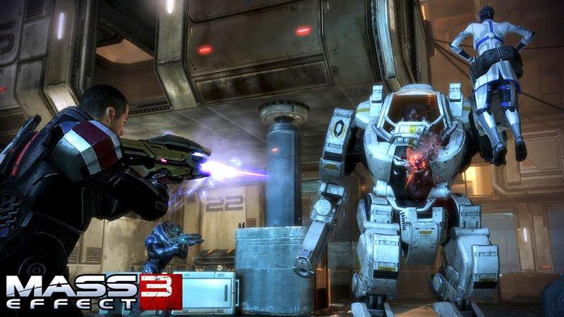 Shepard & Co. Take Down Mech in Mass Effect 3