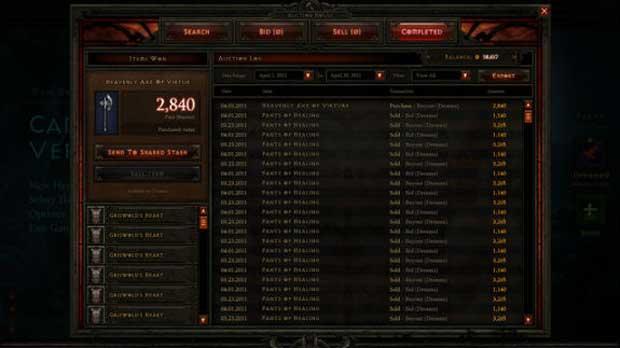Diablo III Marketplace Gets Real News  Diablo III