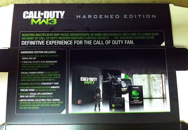 "Modern Warfare 3 ""Hardened Edition"" leaked early"