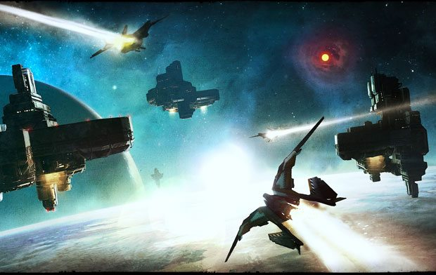 Extended Space Combat Footage for Starhawk