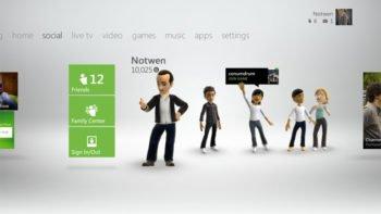 Xbox 360 Dashboard Fall Update Friends List