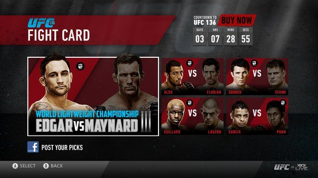 UFC heading to Xbox Live on December 1st