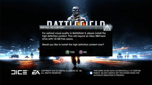 Battlefield 3 Install Problems Hit Xbox 360 Owners News  Battlefield 3