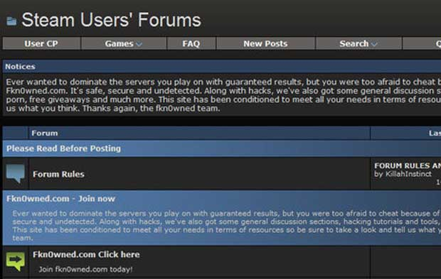 Hackers Take Down Steam Forums