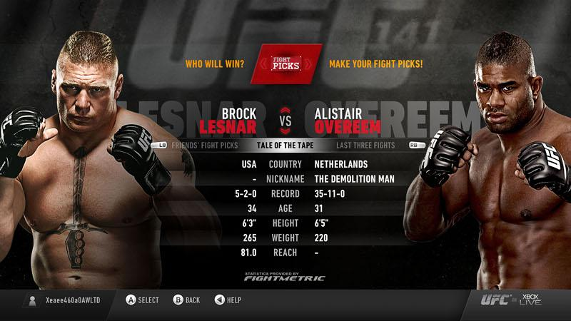 Xbox Live and UFC, First Round is a Bloodbath