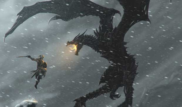 Dragon Mounts in Skyrim? News PC Gaming PlayStation Xbox  Skyrim