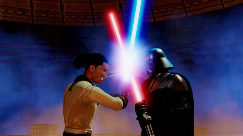 The force is strong with these Kinect Star Wars Screenshots