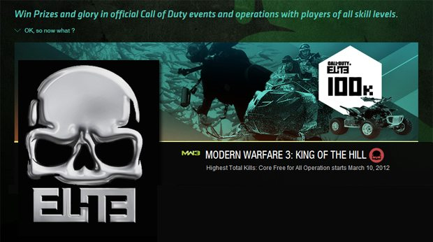 Call of Duty: Elite offering gamers the chance at huge prizes in MW3 Event