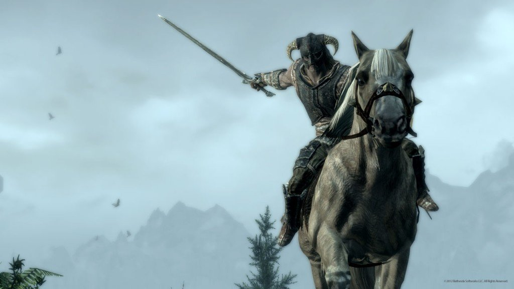 Skyrim patch to add mounted combat News PC Gaming PlayStation Xbox  Skyrim