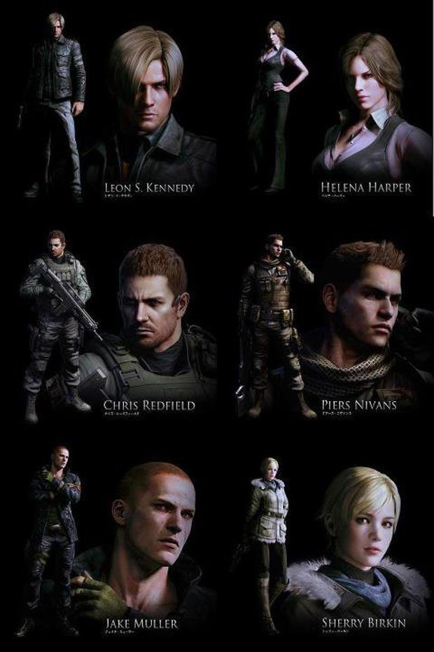 resident evil 6 characters