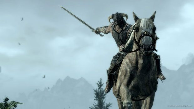 Future Skyrim patch will finally bring mounted combat to PS3, beta features to PC