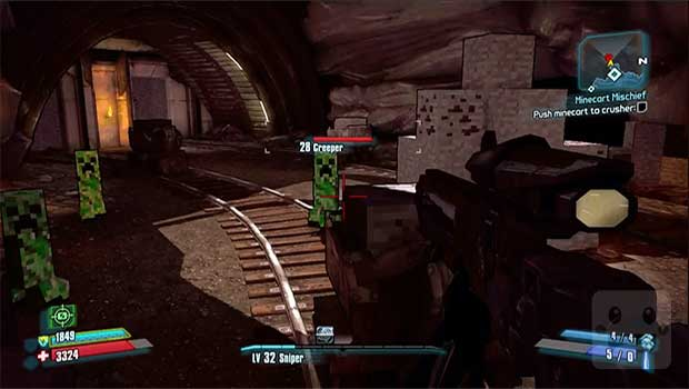 How to get the Minecraft Secret in Borderlands 2 PC Gaming PlayStation Videos Xbox  Borderlands 2