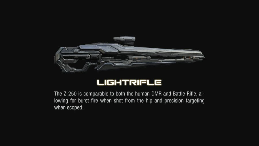 promethean light rifle halo4 Halo 4 Helmets, Enemies and Weapons Explained