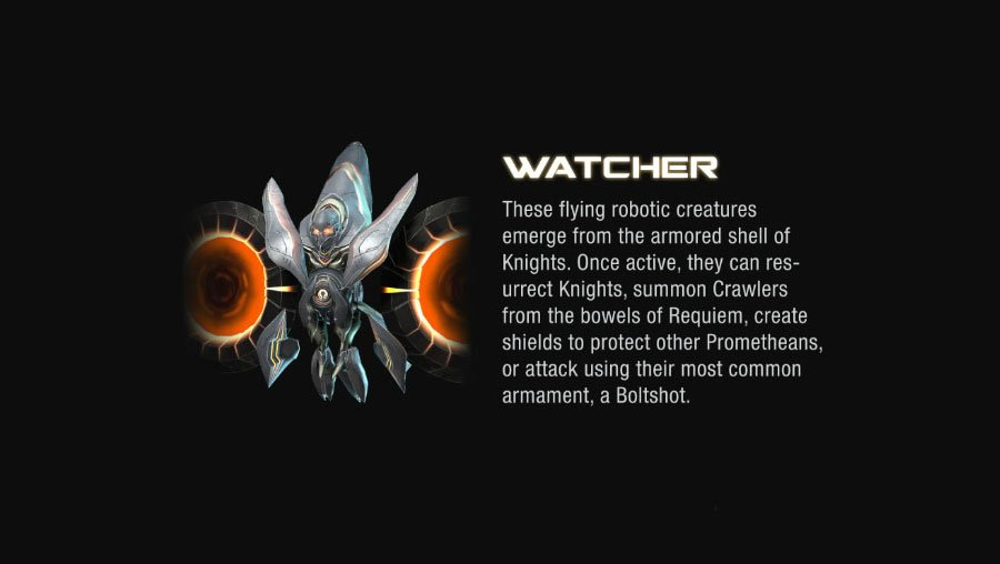 watcher halo 4 Halo 4 Helmets, Enemies and Weapons Explained