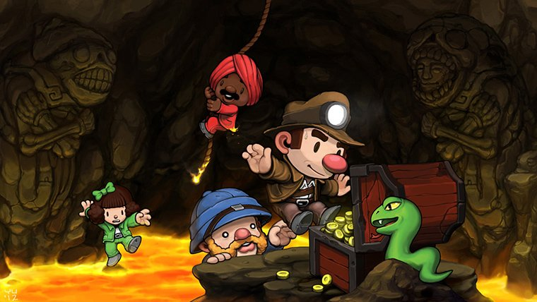 Spelunky and other indie titles heading to PS Vita, PS3 and PS4 News  Spelunky PSVita
