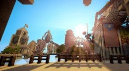 Bioshock Infinite's Columbia remade in Minecraft