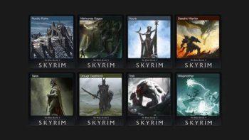 Skyrim gets Steam Trading Card set