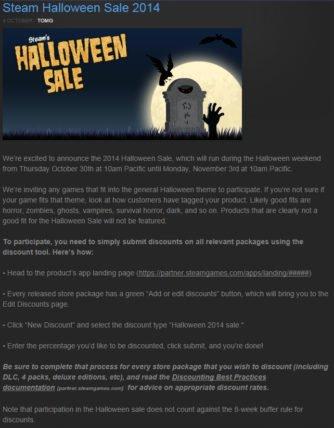 Steam Halloween Sale 2014