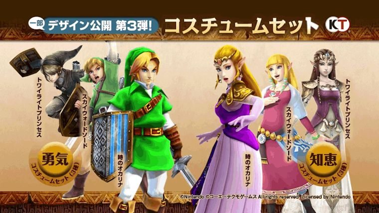 Hyrule Warriors Pre Order Dlc Costumes Now Available For Purchase Attack Of The Fanboy