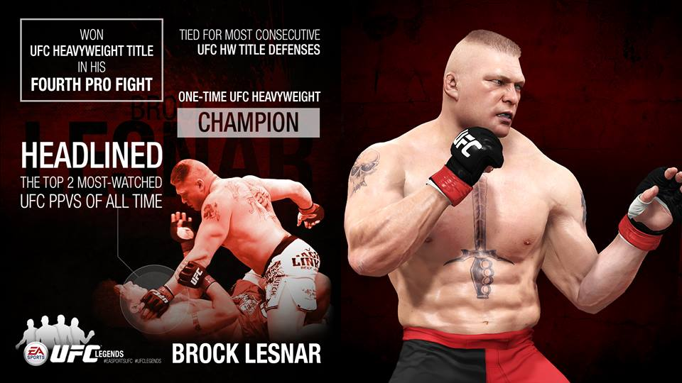 Brock Lesnar  will be featured as DLC in the EA Sports UFC video gameUfc Brock Lesnar