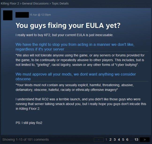 Killing-Floor-2-EULA-Complaint