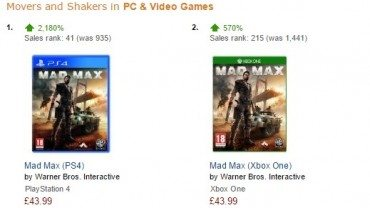 Mad Max Sales Rise Over 2000% On Amazon Less Than 24 Hours After Gameplay Reveal