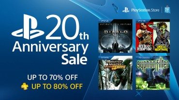 PlayStation Store 20th Anniversary Sale Offers Up to 80% Off More Than 100 Games