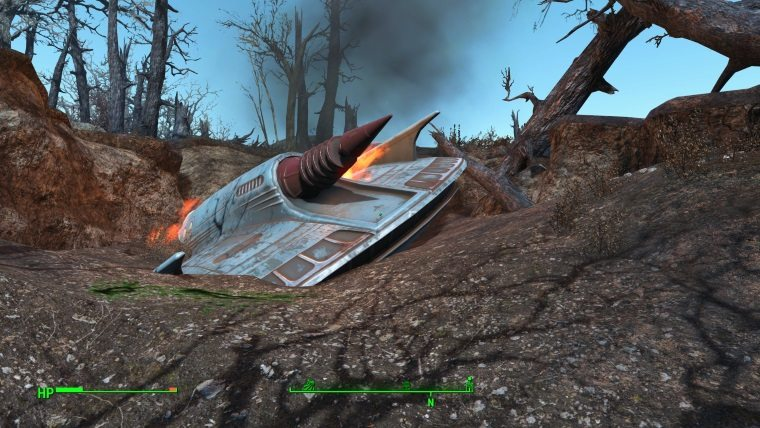 Fallout 4 Guide: Where is the Crashed UFO and Alien Blaster